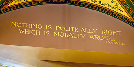 Nothing is politically right which is morally wrong